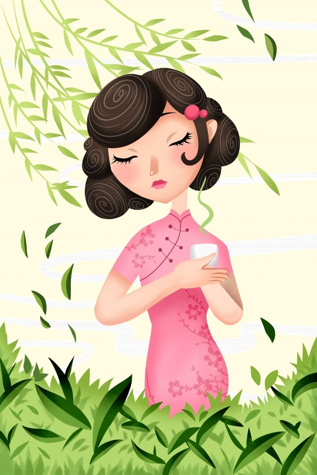 quality tea tea green tea, Tea, Beautiful, Hand Painted illustration image
