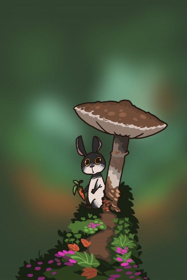 rabbit animal lovely cartoon, Hide, Rabbit, Animal illustration image