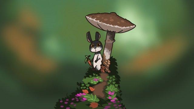 coelho animal adorável dos desenhos animados Material de ilustração