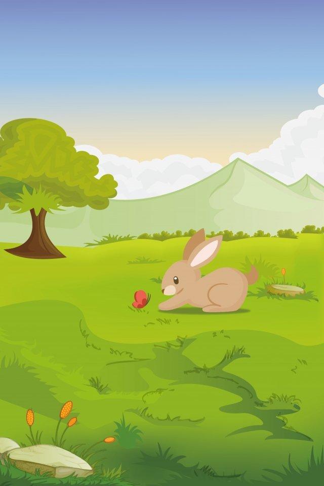 rabbit play animal park llustration image illustration image