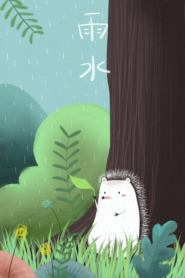 雨水ソーラー用語春雨動物 イラスト素材 イラスト画像