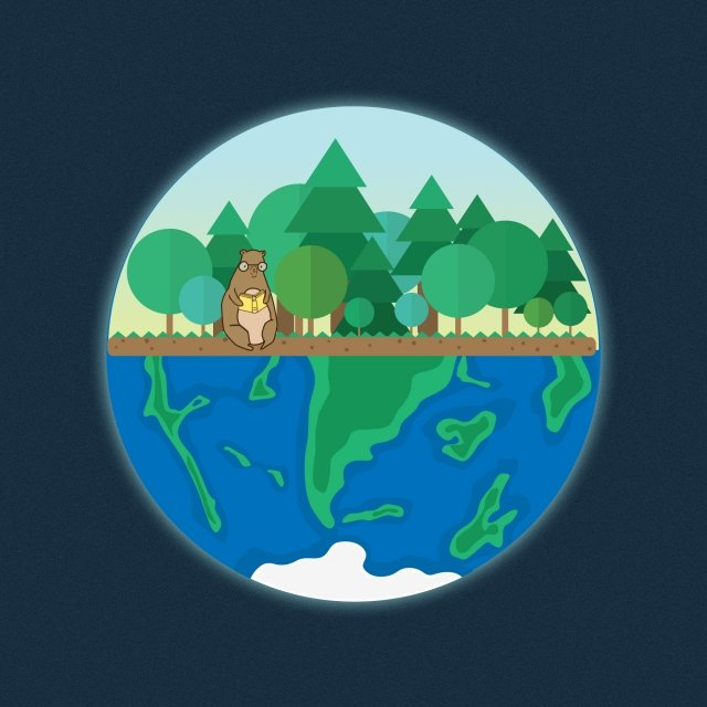 reading earth the earth day lonely, Blue, Forest, Illustration illustration image