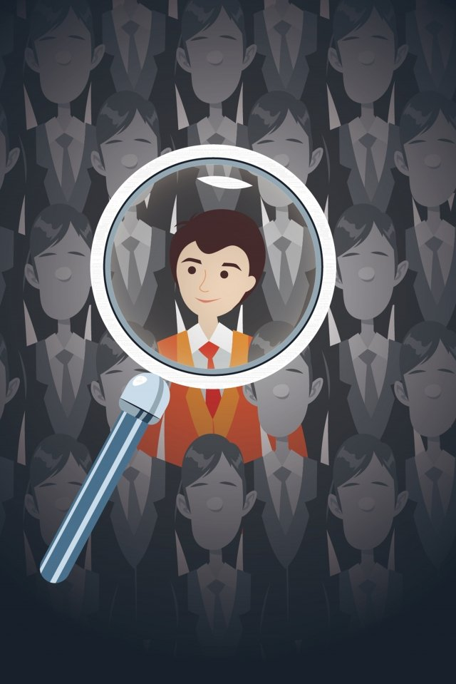 recruitment job hunting magnifier search llustration image illustration image