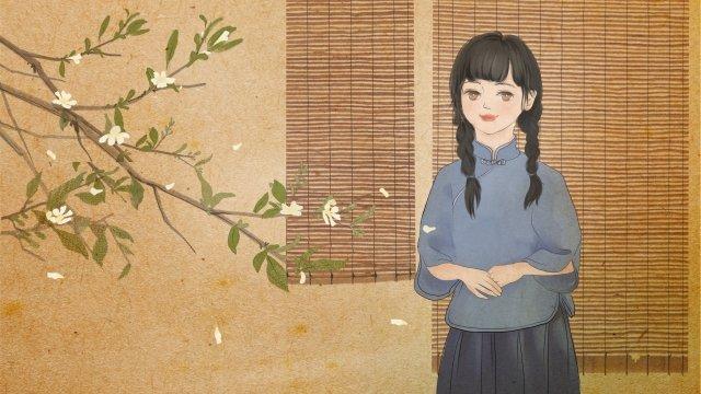 복고풍 강남은 4 번째 청년 학생이 될 수있다 삽화 소재