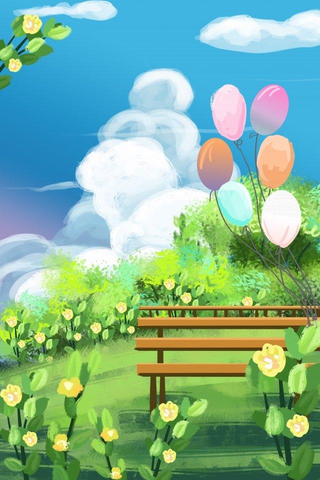 ballon romantique illustration peinte à la main image d'llustration image d'illustration