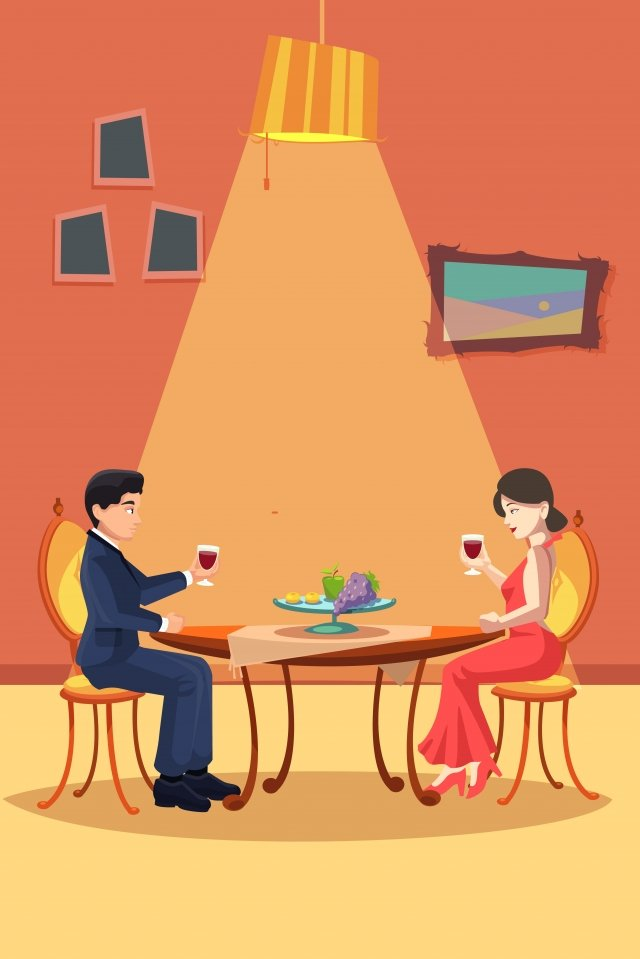 romantic drink red wine celebrate llustration image