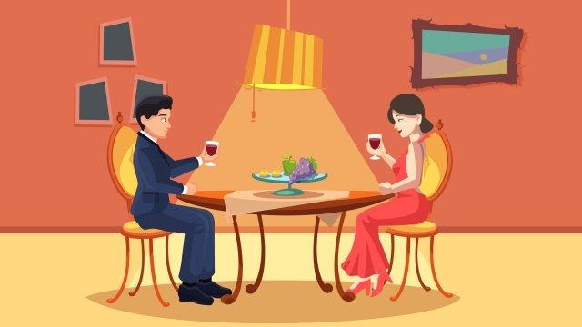 romantic drink red wine celebrate llustration image illustration image