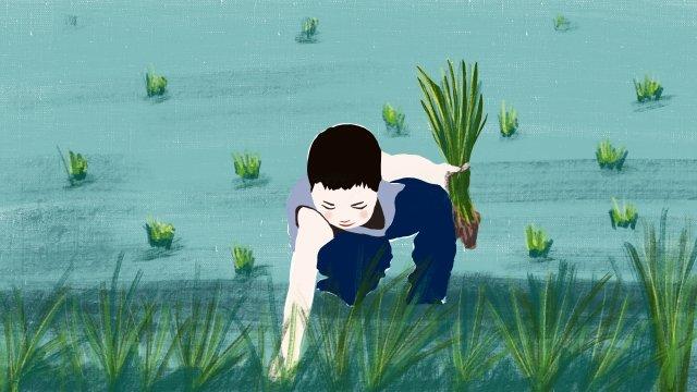 農村就業生活系列 插畫素材