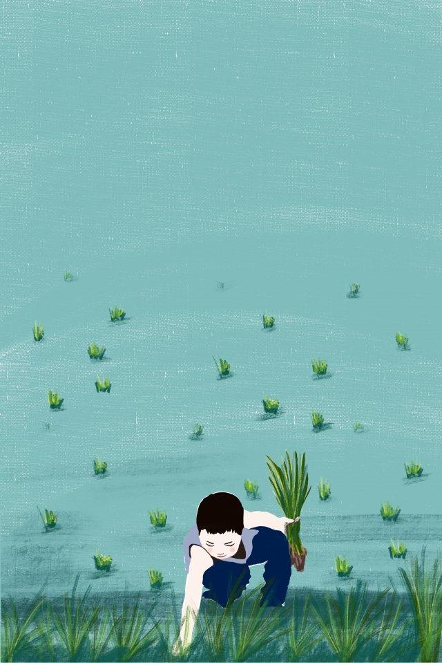 農村就業生活系列 插畫素材 插畫圖片
