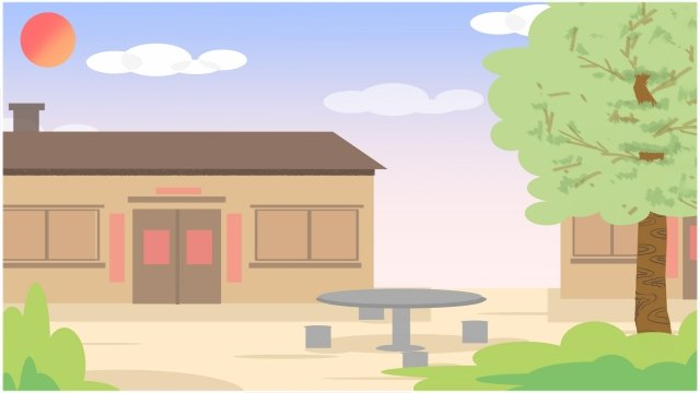 農村生活自然快樂 插畫素材 插畫圖片