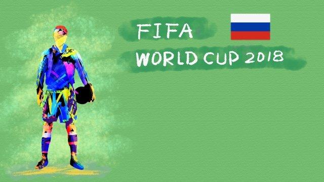 ロシアサッカーワールドカップ2018 イラスト素材