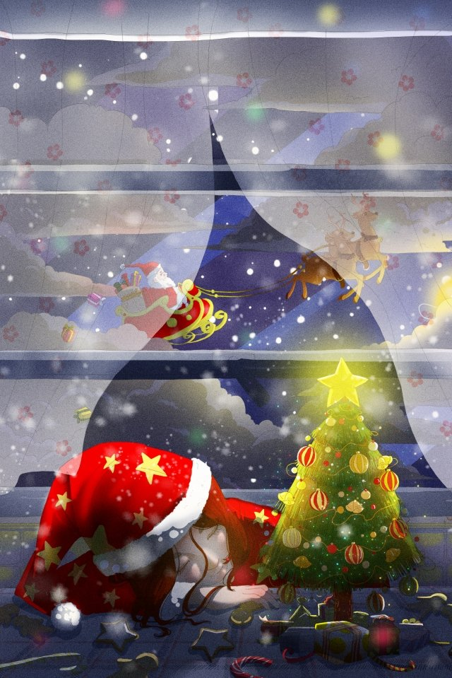 santa، claus، الرنة، اّطفال، تصوير، christmas مواد الصور المدرجة