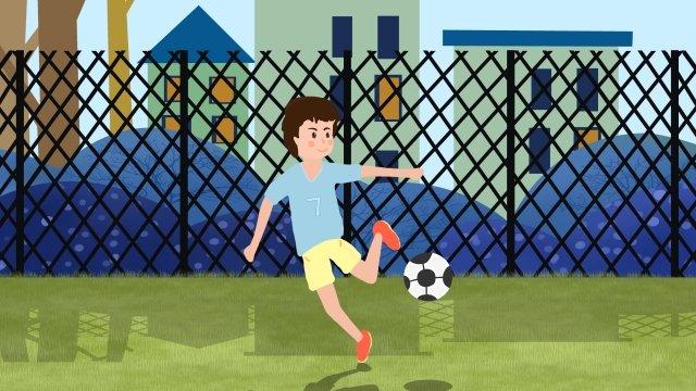 school season play football student boy, Juvenile, Football, Campus illustration image