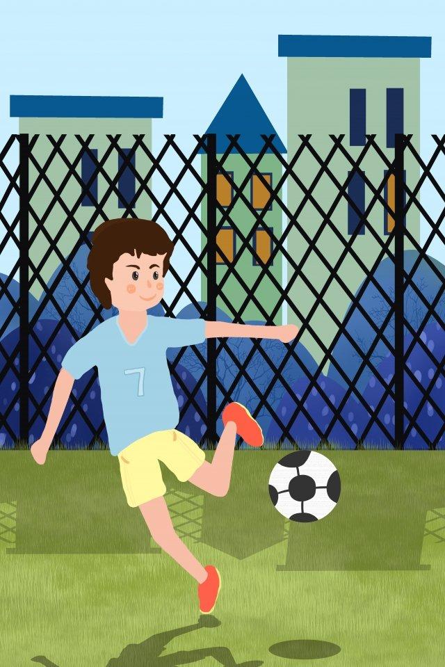 school season play football student boy llustration image