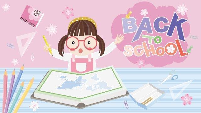 スクールシーズンスクールデイガールスクール イラスト素材 イラスト画像