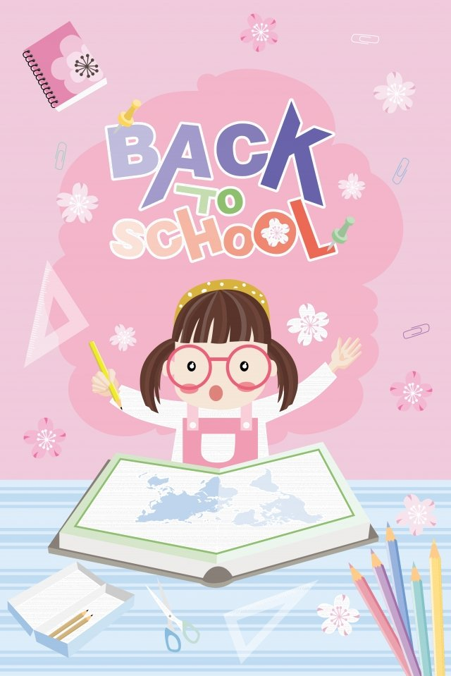 school season school day girl school llustration image illustration image