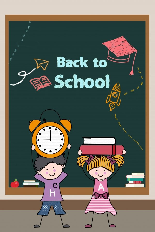 school season stick figure illustration child illustration image