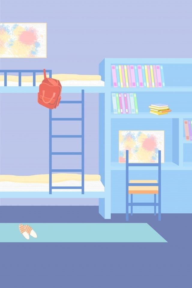 スクールシーズン学生寮の部屋 イラスト素材
