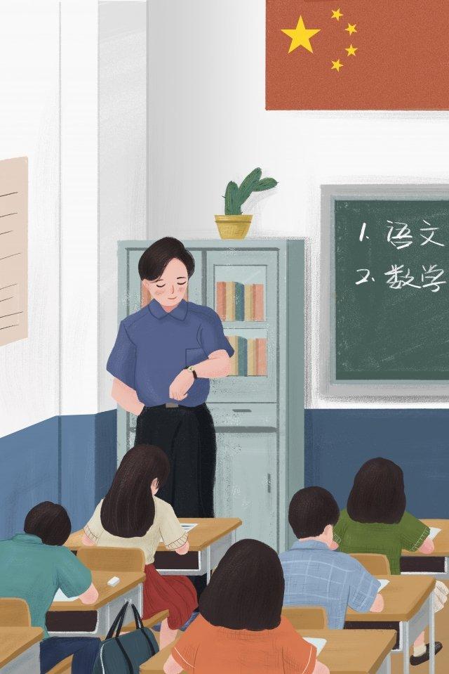 professor do exame do estudante da escola Material de ilustração Imagens de ilustração