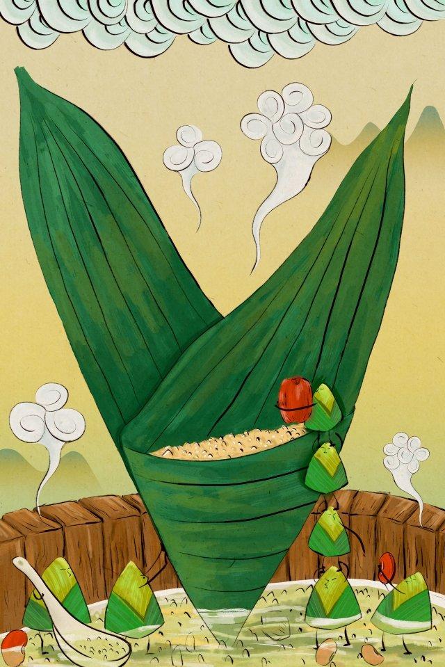 蝎子中國式手繪中國傳統節日 插畫素材