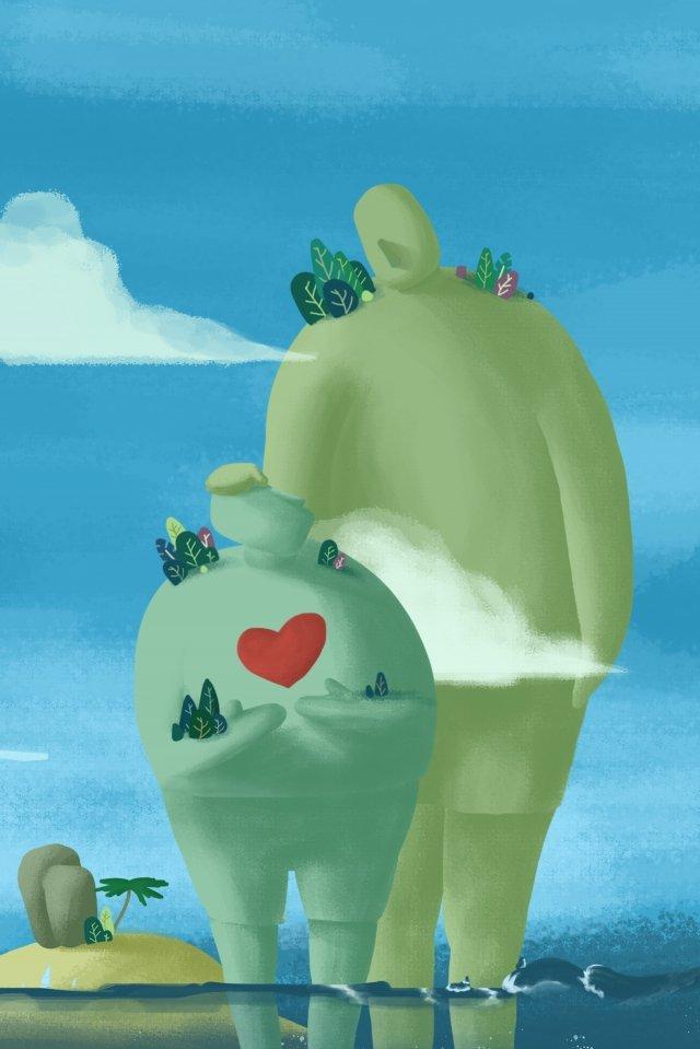 biển nhỏ đảo xanh bầu trời Hình minh họa