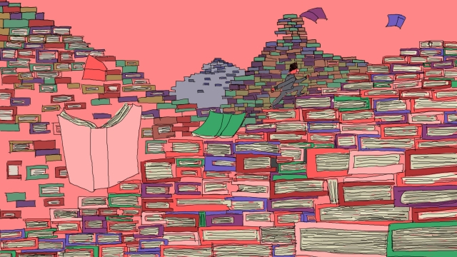 sea of ​​books education learn know how llustration image