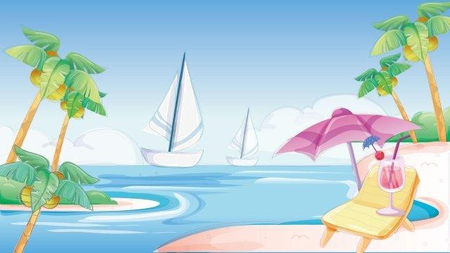 phong cảnh bên bờ biển kỳ nghỉ hè Hình minh họa