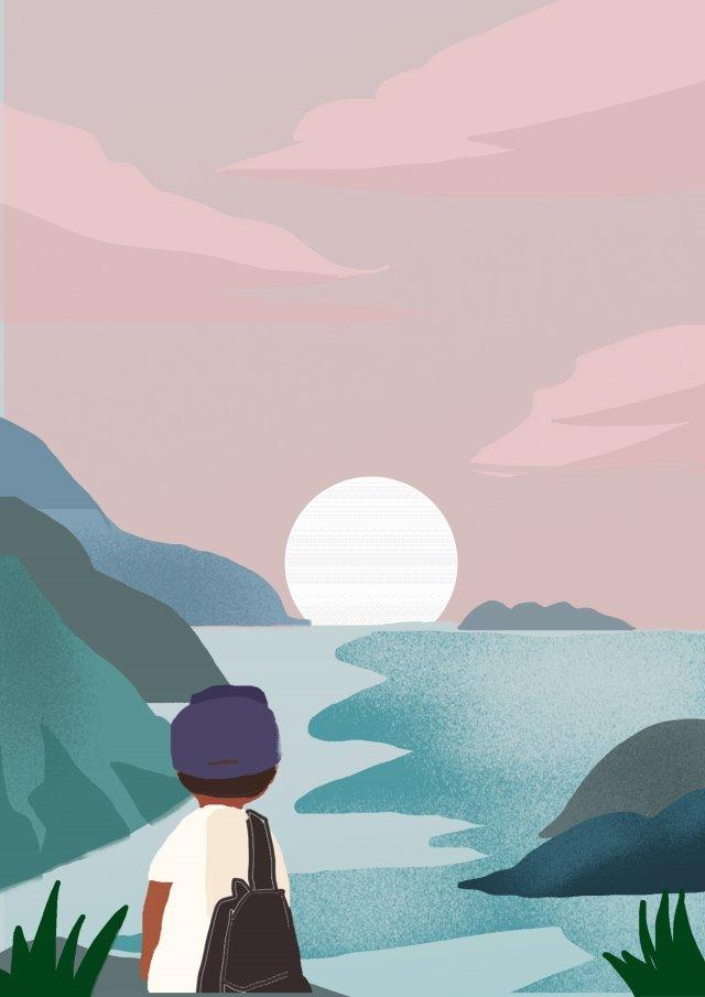 海辺旅行観光アウトドア イラスト素材 イラスト画像