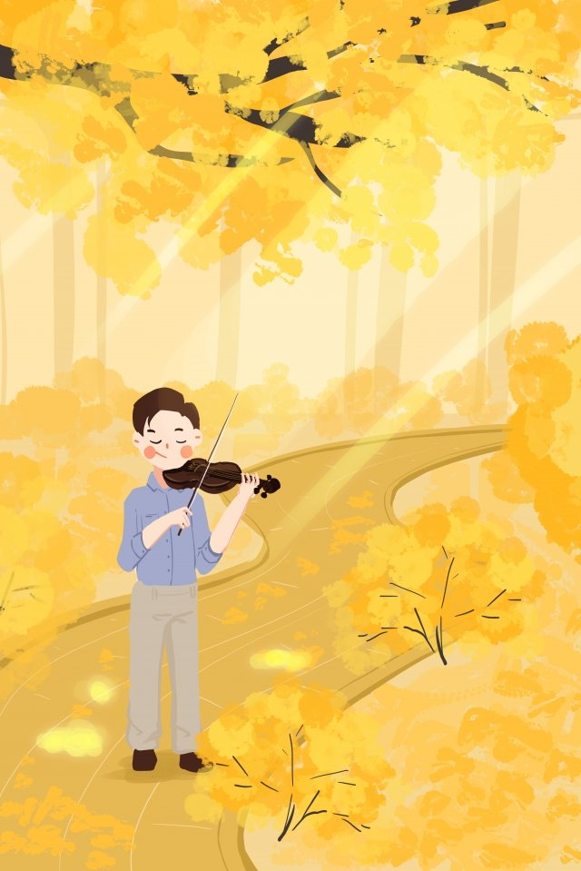 september hello there fall yellow, Fallen Leaves, Patio, Autumn illustration image