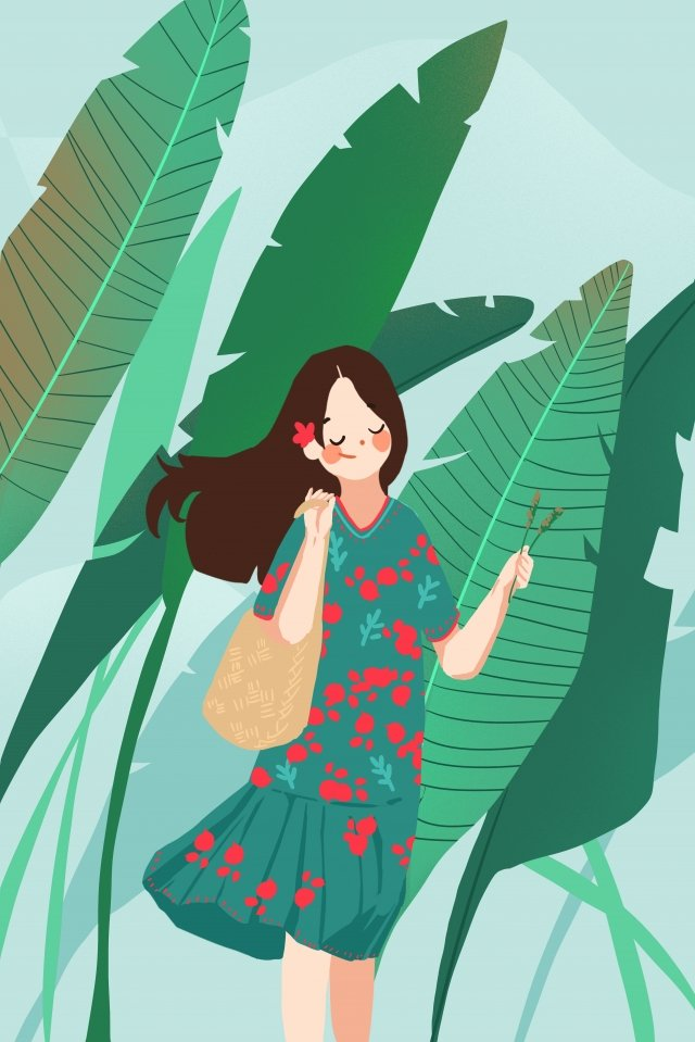 september hello there green banana llustration image