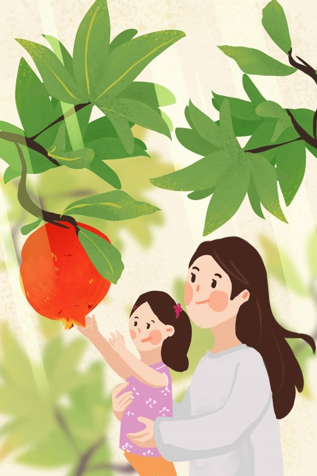 september hello there pomegranate mother and daughter llustration image illustration image