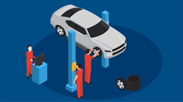 service car personnel service centre llustration image illustration image