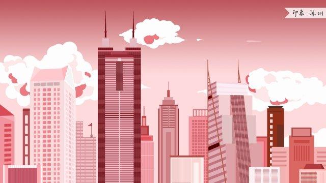 shenzhen diwang building impression landmark building, Landmarks, City Illustration, Skyline illustration image