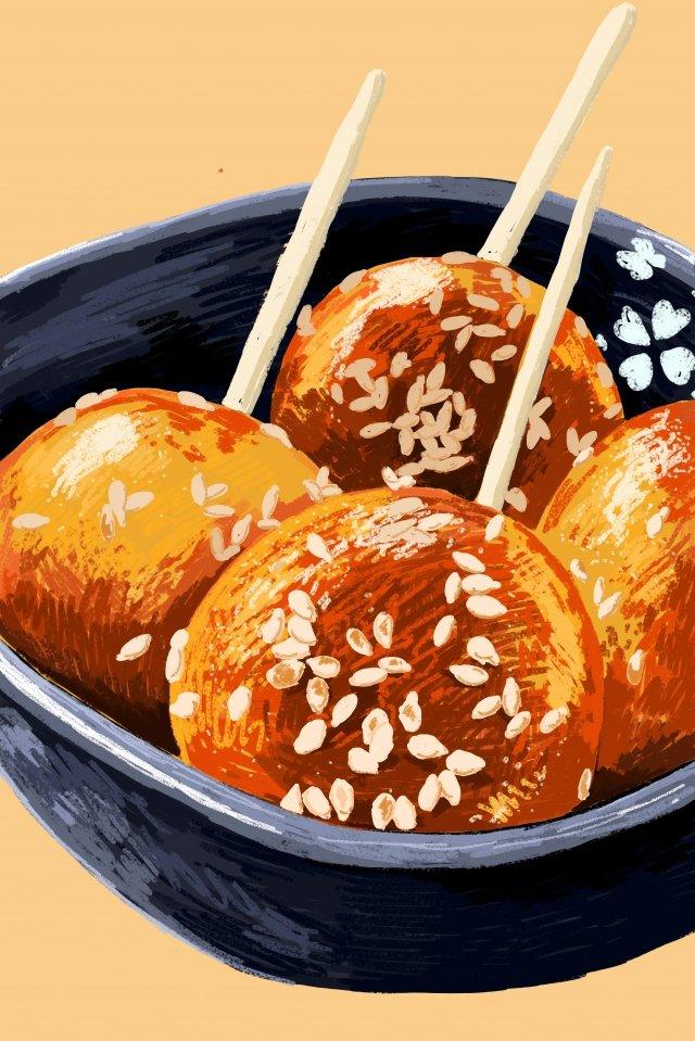 四川糖油果子食物例證 插畫素材 插畫圖片