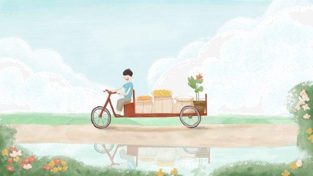 誠意農村生活領域 插畫素材 插畫圖片