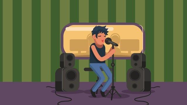 संगीत रिकॉर्डिंग चरित्र गाओ चित्रण छवि