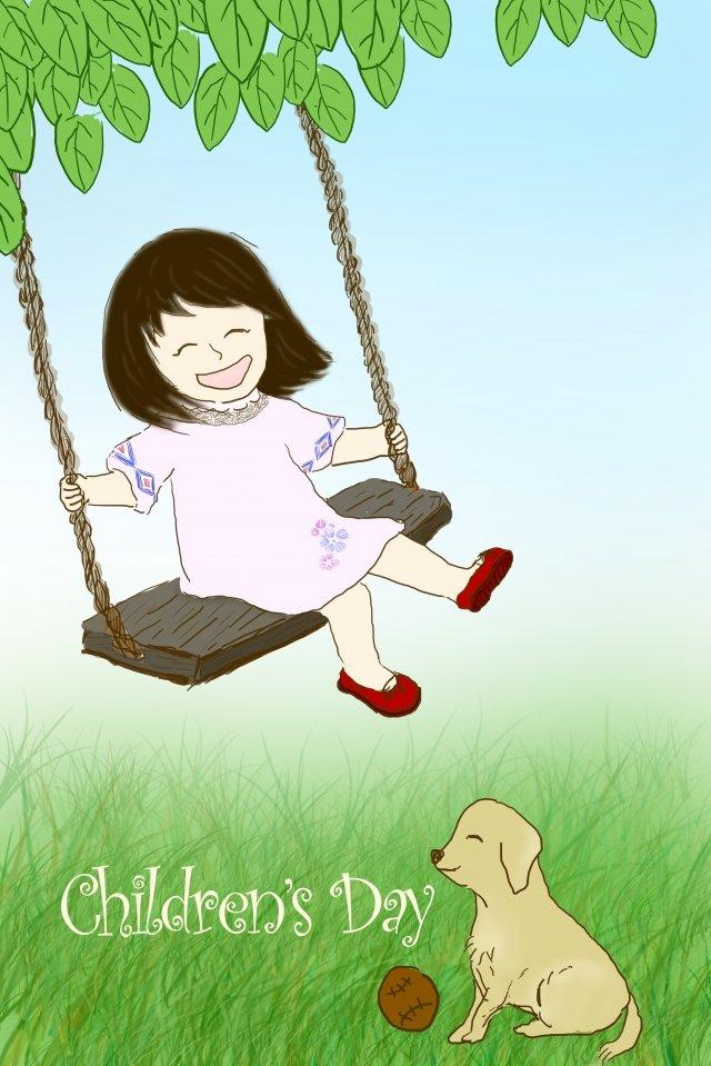6 1イラストスイング子供の日 イラストレーション画像