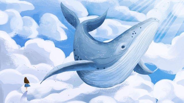 하늘 구름 바다 구름 구름 삽화 소재