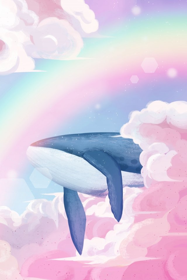 whale cloud, Cloud, Dream, Healing illustration image