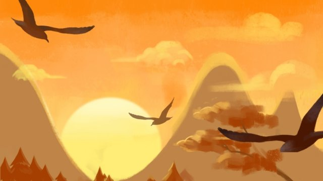 Sky sunset mood warm nones illustration background Langit Matahari terbenam Hangat Warna hangat BurungTerbenam  Hangat  Warna PNG Dan JPA illustration image