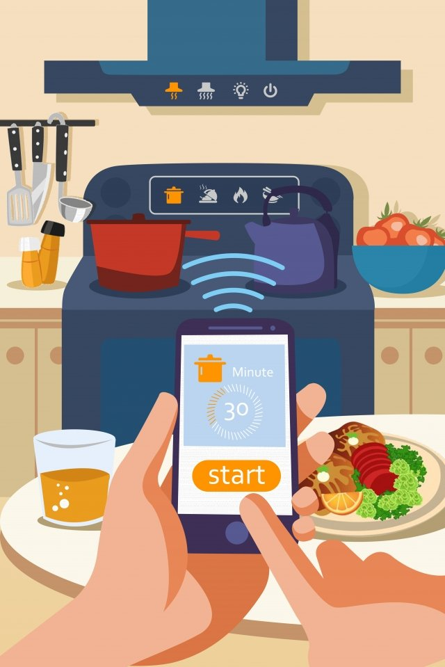 smart home furniture mobile phone control illustration llustration image