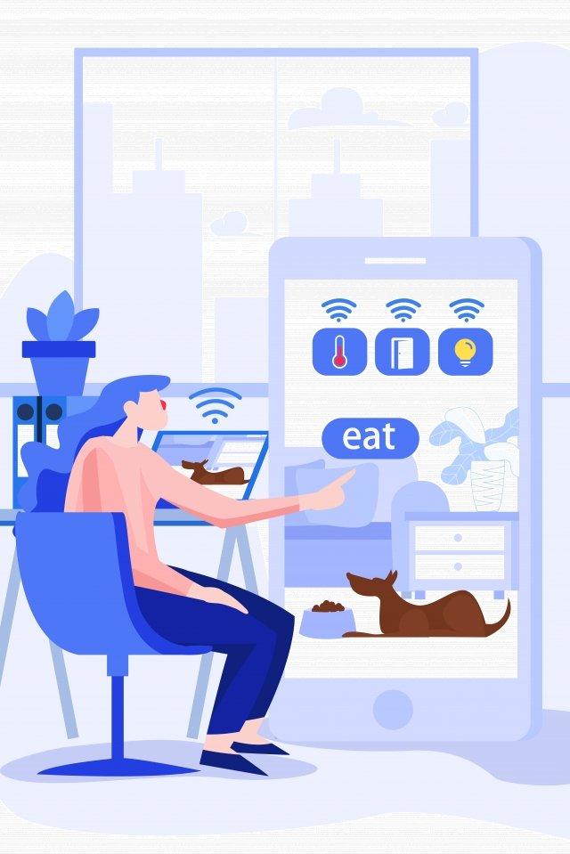 smart home remote control illustration, Smart Home, Remote Control, Illustration illustration image