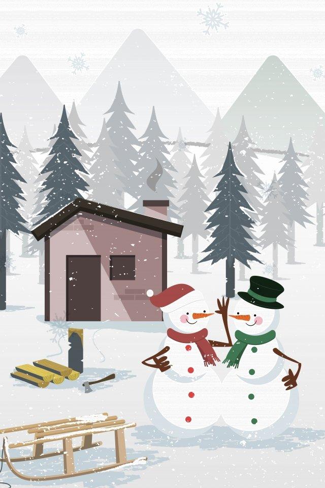 snow heavy snow hand drawn cartoon winter, Solar Illustrator, Festival, Illustration illustration image
