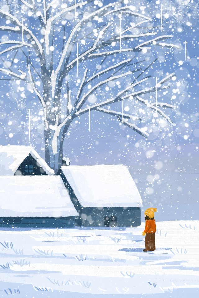 snow scene winter winter snowing llustration image illustration image