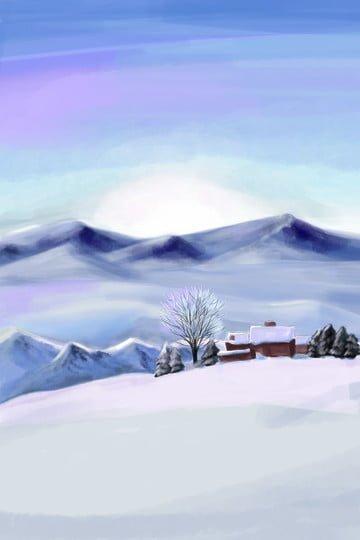 snowfield tưởng tượng cảnh tuyết tuyết tuyết nhà tuyết Hình minh họa