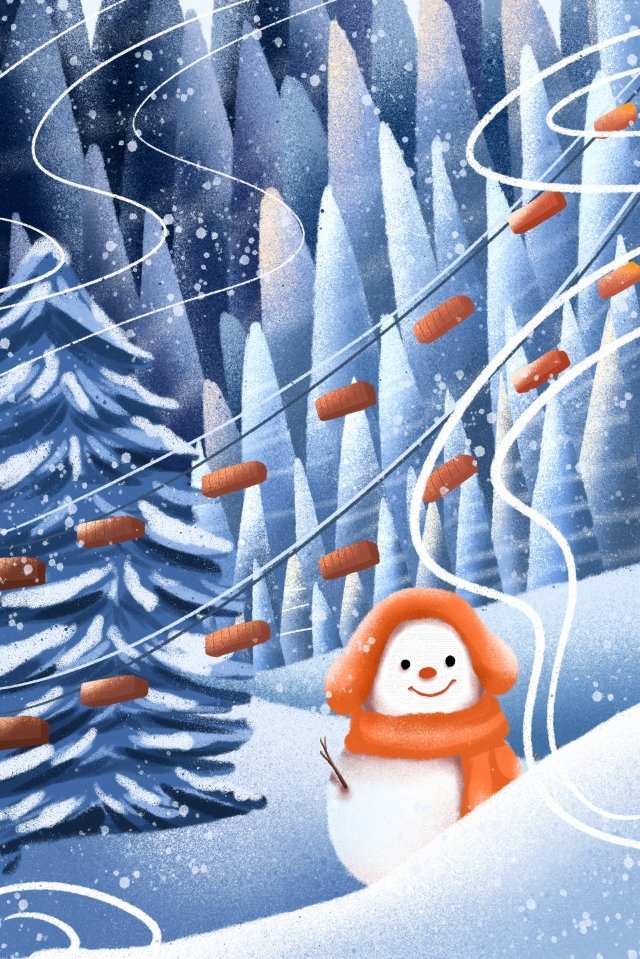 snowman great cold winter solstice winter llustration image
