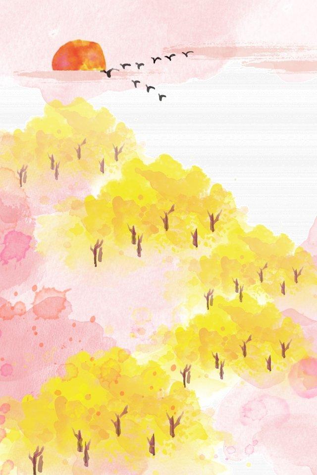 ソーラー用語秋水彩画フレッシュ イラスト素材 イラスト画像