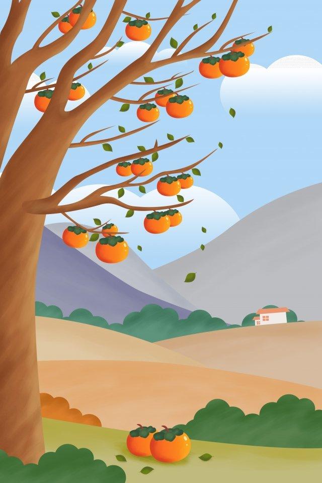 सौर शब्द ठंड ओस गिरावट ख़ुरमा पेड़ चित्रण छवि