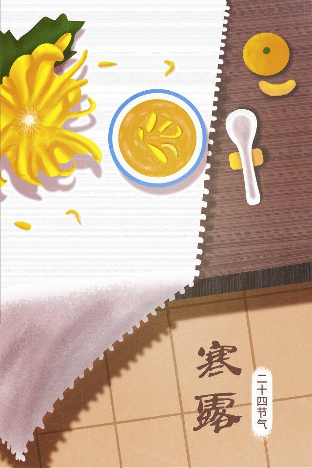 ソーラータームcold dew 24ソーラーターム菊 イラスト素材 イラスト画像