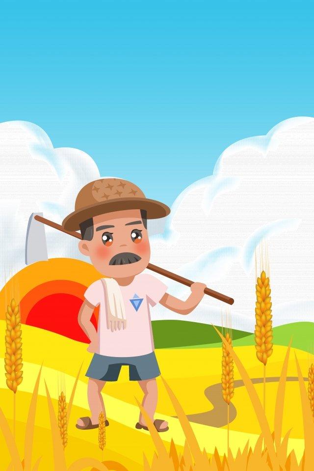 太陽光条件マンゴー種農場労働労働日 イラスト素材